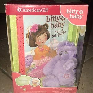 Brand New American Girl Bitty Baby Plush & Book